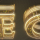 Gold Glam Neon Logo Reveal - VideoHive Item for Sale