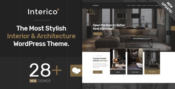Interico - Stylish Interior Design & Architecture WordPress Theme