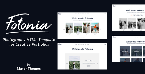 Fotonia - Photography Portfolio Template