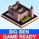 Cartoon Low Poly Big Ben Landmark - 3DOcean Item for Sale