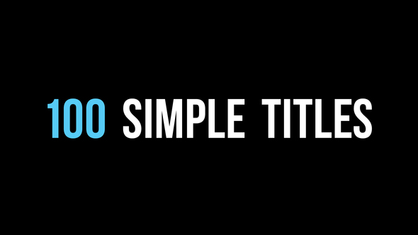 100 Simple Titles