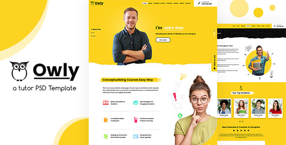 Owly | Tutor PSD Template