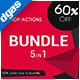 Bundle 5in1 - Photoshop Action - GraphicRiver Item for Sale