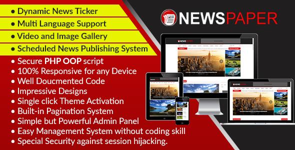 Newspaper - Responsive News, Magazine and Blog CMS Script Download