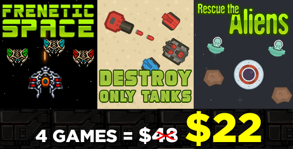 Games Chaos and Destruction Bundle 3 Games - HTML5 Game (CAPX)