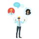 Social Network Communication - GraphicRiver Item for Sale