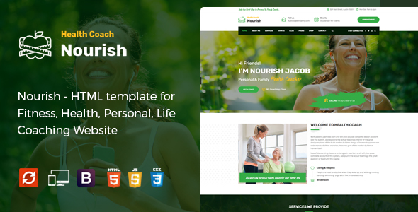Nourish - Personal Trainer HTML Template