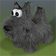 Cartoon Scottish Terrier Dog Model - 3DOcean Item for Sale