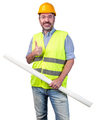 happy construction industry professional isolated - PhotoDune Item for Sale