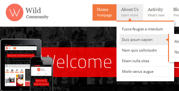WildCommunity - BuddyPress Community Theme