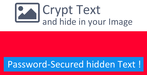 Text Crypto - Hide Text inside Image