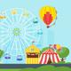 amusement park carnival for kids - GraphicRiver Item for Sale