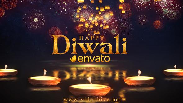 Diwali Sky Lantern Logo