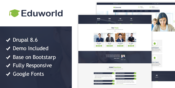 Eduworld-Education, Courses Online Drupal 8.6 Theme