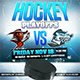 Hockey Playoffs 2018 Web Flyer Template - GraphicRiver Item for Sale