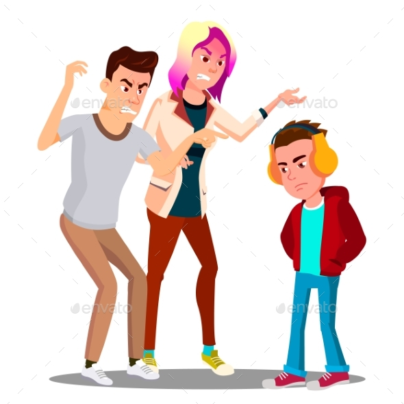 Conflict With Parents, Father And Mother Scolding