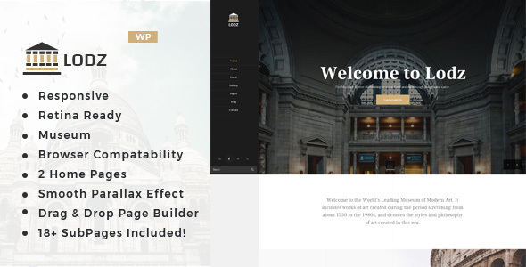 Lodz - Museum & Exhibition WordPress Theme