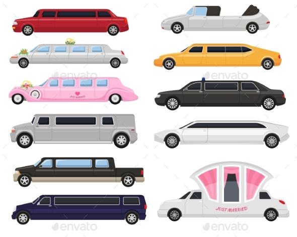 Limousine Vector Limo Luxury Car and Retro Auto