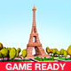 Cartoon Low Poly Eiffel Tower Landmark - 3DOcean Item for Sale