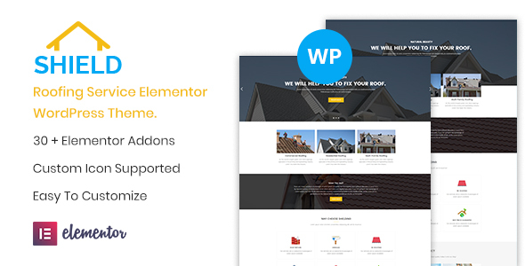 Shield - Roofing Service Elementor WordPress Theme