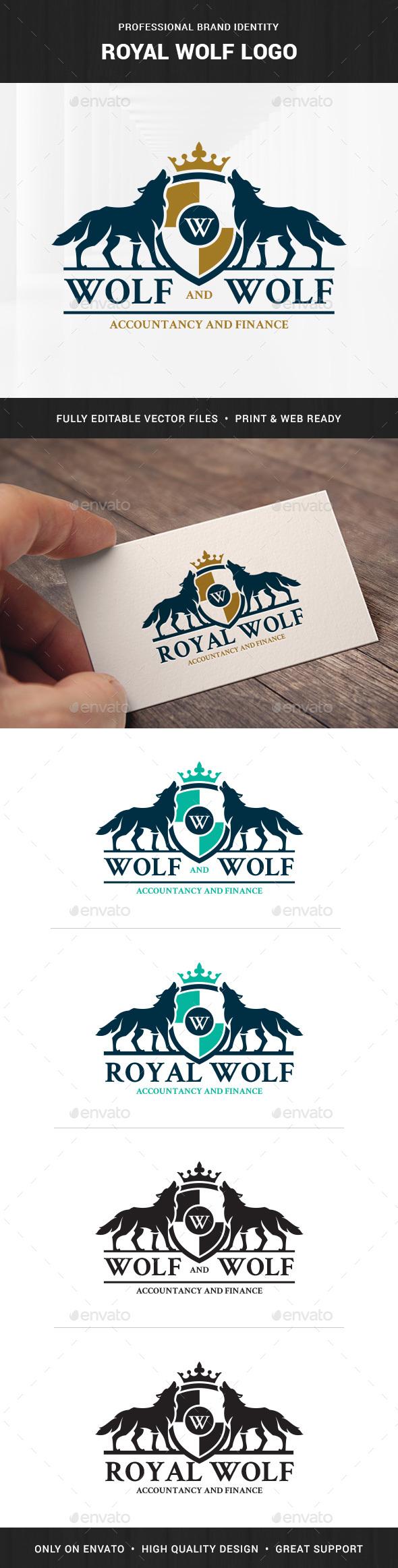 Royal Wolf Logo Template
