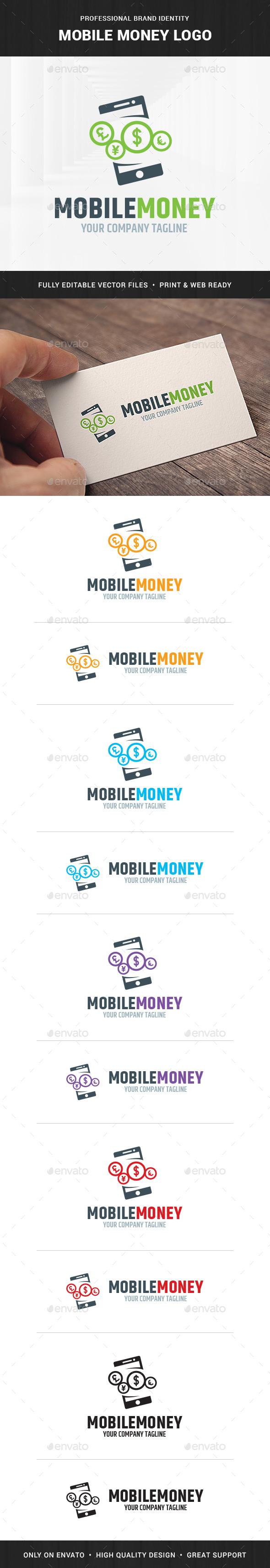 Mobile Money Logo Template