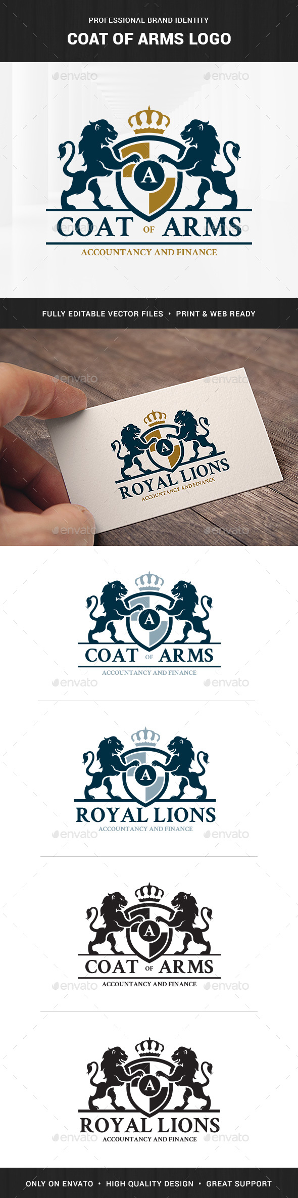 Coat Of Arms Logo Template