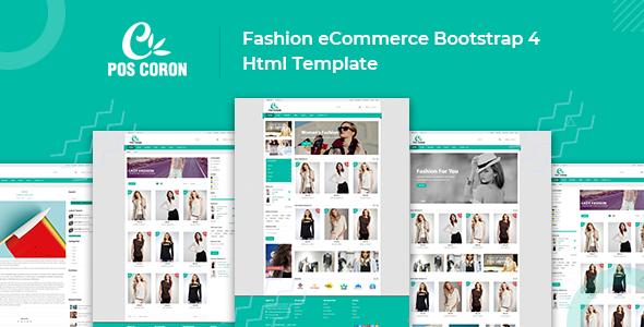 Coron – Fashion eCommerce Bootstrap 4 Template