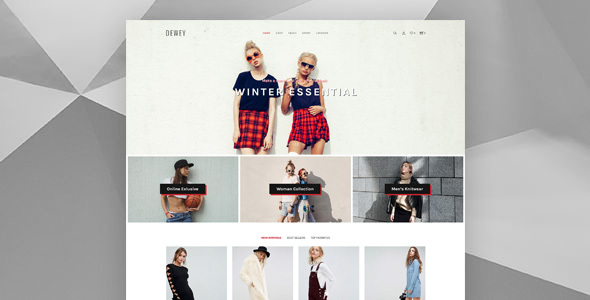 Dewey - Creative Shop PSD Template