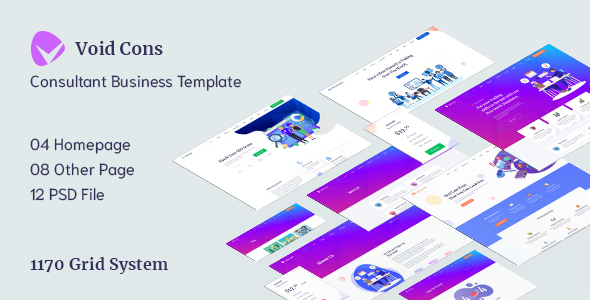 Void Cons- Consulting Business PSD Template