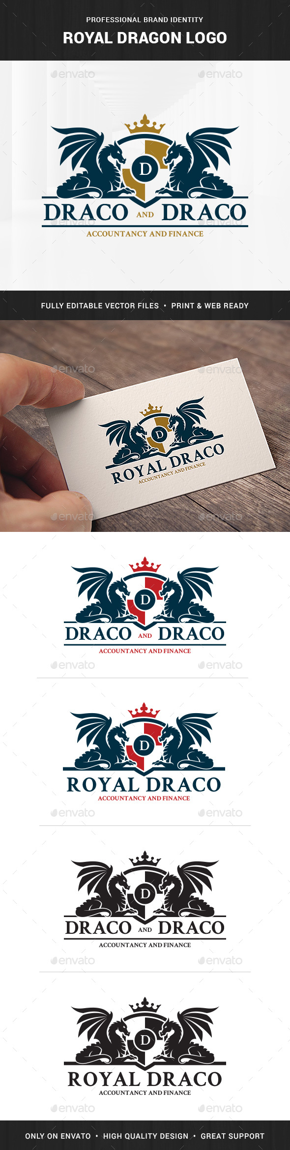Royal Dragon Logo Template