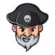 Captain Pirate Logo Template - GraphicRiver Item for Sale