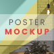 Poster on the Wall / PSD Mock-up - GraphicRiver Item for Sale
