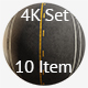 Asphalt 4K Texture set 10 items - 3DOcean Item for Sale