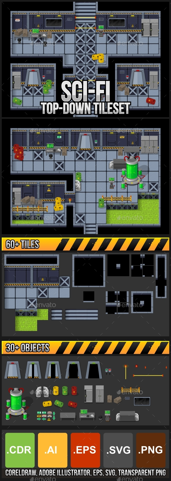 Space Game Tilesets from GraphicRiver