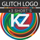 Glitch & Fire Logo
