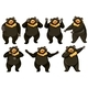 Set of Bear Dance Positions - GraphicRiver Item for Sale