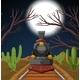 Train In Night Desert Scene - GraphicRiver Item for Sale