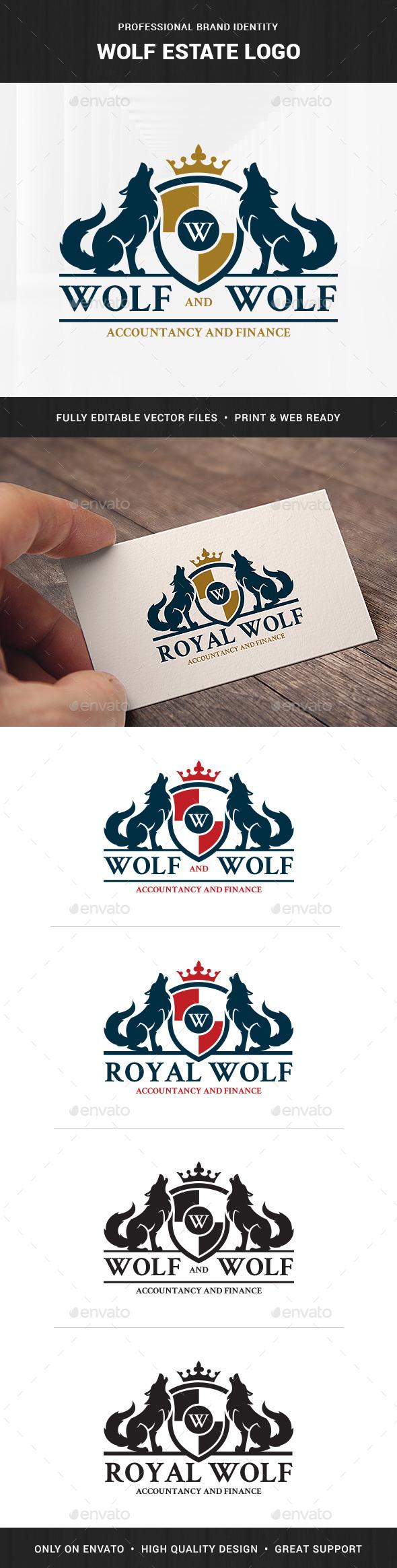 Wolf Estate Logo Template