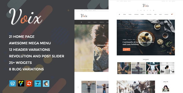 Voix - Personal Blogging WordPress Theme for Storytellers