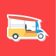 110 Transport Flat Sticker Icons - GraphicRiver Item for Sale