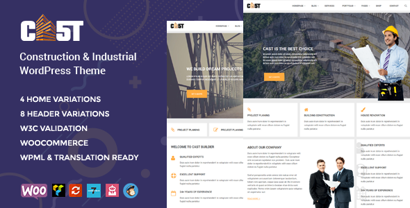 Cast - Construction & Industrial Responsive WordPress Theme