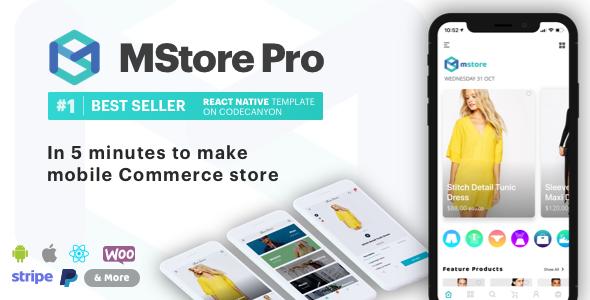 MStore Pro - Kompletny szablon React Native dla handlu elektronicznego