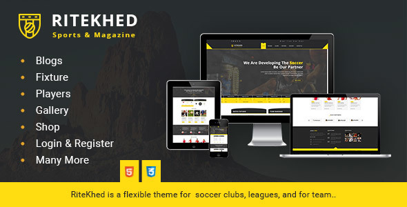 RiteKhed Fixtures and Sports Html Template
