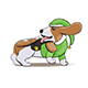 Basset Hound Cartoon Puppy Character Portrait - GraphicRiver Item for Sale