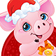 Little Piglet with Christmas Gifts for the New Year 2019 - GraphicRiver Item for Sale