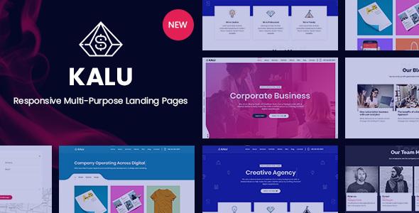 Kalu – Responsive Multi-Purpose Landing Pages