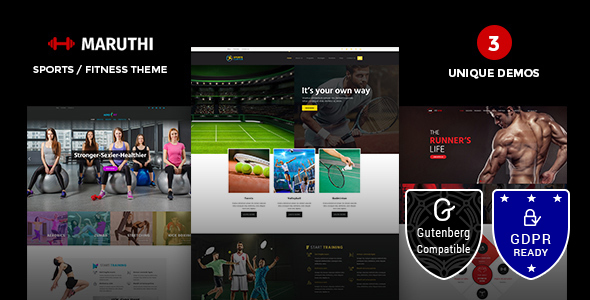 Maruthi - Gym WordPress Theme