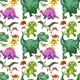 Various Types of Dinosaur Seamless Pattern - GraphicRiver Item for Sale