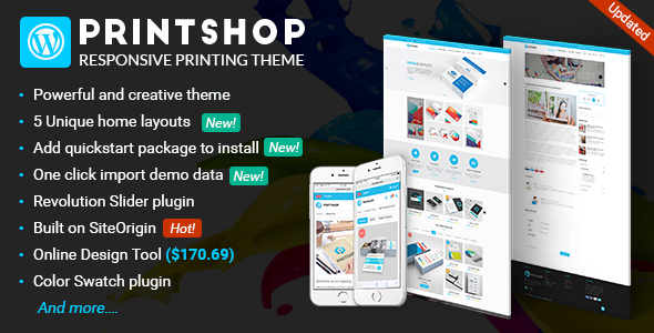 Printshop - WordPress Responsive Printing Theme